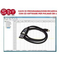 CAVO DI PROGRAMMAZIONE/RICARICA + CD SOFTWARE PER POLMAR DB-2