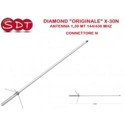 "DIAMOND ""ORIGINALE"" X-30N ANTENNA 1,30 MT 144/430 MHZ - CONNETTORE N"