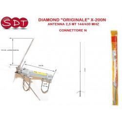"DIAMOND ""ORIGINALE"" X-200N ANTENNA 2,5 MT 144/430 MHZ - CONNETTORE N"