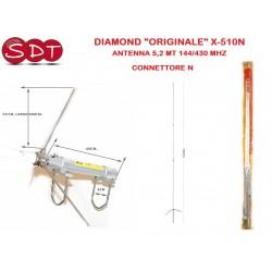 "DIAMOND ""ORIGINALE"" X-510N ANTENNA 5,2 MT 144/430 MHZ - CONNETTORE N"