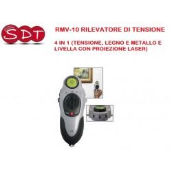 RMV-10 RILEVATORE DI TENSIONE 4 IN 1 (TENSIONE, LEGNO E METALLO E LIVELLA CON PROIEZIONE LASER)