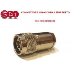 CONNETTORE N MASCHIO  A MORSETTO IN TEFLON PER RH-200/RT5020
