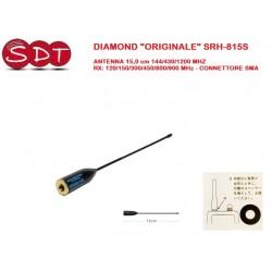 "DIAMOND ""ORIGINALE"" SRH-815S ANTENNA 15,0 cm 144/430/1200 MHZ RX: 120/150/300/450/800/900 MHz - CONNETTORE SMA"
