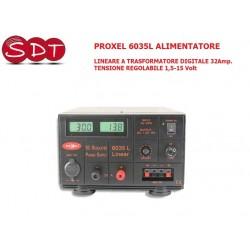 PROXEL 6035L ALIMENTATORE LINEARE A TRASFORMATORE DIGITALE 32Amp. TENSIONE REGOLABILE 1,5-15 Volt
