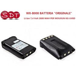 """WX-B008 BATTERIA """"ORIGINALE"""" Li-Ion 7,4 Volt 2600 MAH PER WOUXUN KG-UV8D"""