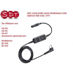OPC-2328 ICOM CAVO OPZIONALE CON SWITCH PER VOX / PTT