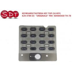 "KEYBOARD/TASTIERA KEY TOP (16 KEY)  K29-4789-03  ""ORIGINALE"" PER  KENWOOD TH-78"