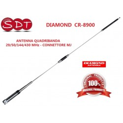 "DIAMOND ""ORIGINALE"" CR-8900 ANTENNA QUADRIBANDA 29/50/144/430 MHz - CONNETTORE MJ"