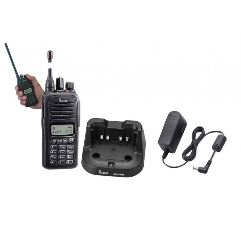 ICOM IC-F1000T RICETRASMETTITORE PORTATILE VERSIONE VHF O UHF PMR 128 CH CON TASTIERA
