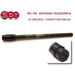 RH-795  ANTENNA TELESCOPICA PER PORTATILI 70-1000 MHZ - CONNETTORE SMA-M