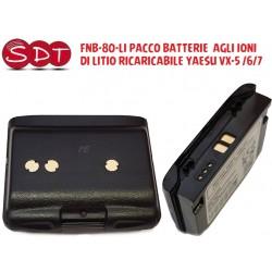 FNB-80LI PACCO BATTERIE  AGLI IONI DI LITIO RICARICABILE Yaesu VX-5 /6/7