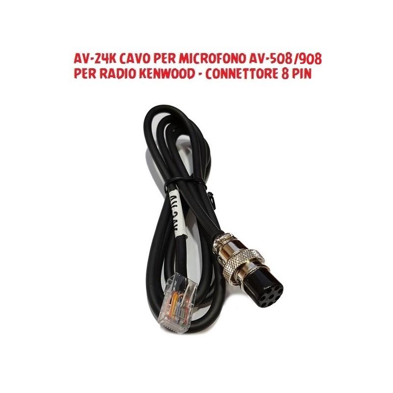 CAVI PER MICROFONO AV-508/908 DM-5000/DM-6000 PER RADIO KENWOOD/YAESU/ICOM