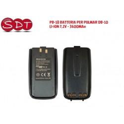 PB-18 BATTERIA PER POLMAR DB-10 LI-ION 7,2V - 3600MAh