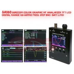 SA160 COLOR GRAPHIC HF ANALAYZER TFT LCD DIGITAL RANGE 0,5-60MHZ FREQ. STEP BNC- BATT. LITIO