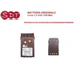 WX-B004 BATTERIA ORIGINALE Li-ion 7,4 Volt 1700 Mah WOUXUN KG 801/UV2D/UV6D/703/639/659/669/679/689/699