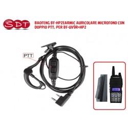 BAOFENG BF-HP2EARMIC AURICOLARE MICROFONO CON DOPPIO PTT, PER BF-UV9R+HP2