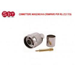 CONNETTORE N MASCHIO A CRIMPARE PER RG-213 7/16