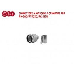 CONNETTORE N MASCHIO A CRIMPARE PER RH-200/RT5020, RG-213U