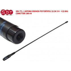 SRH-771-J  ANTENNA BIBANDA PER PORTATILI 38 CM 144 - 430 MHz  - CONNETTORE SMA-M