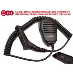 PJD-3603-DMR MICROFONO/ALTOPARLANTE CAVO SPIRALATO PER SERIE MOTOROLA DP-3400/3600/4401/4601/4801 XPR 6300/650