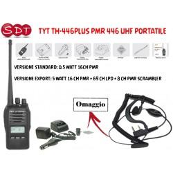 TYT TH-446PLUS PMR 446 UHF PORTATILE  ANCHE IN VERSIONE EXPORT 5 WATT
