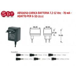 AB50050 CARICA BATTERIA 7,2-12 Vdc - 70 mA - ADATTO PER 6-10 celle