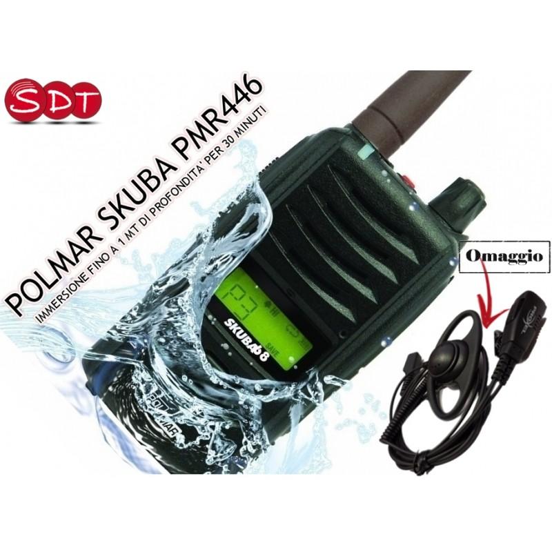 POLMAR SKUBA PMR446 UHF PORTATILE IMPERMEABILE IP-67 ANCHE IN VERSIONE EXPORT 5 W + SCRAMBLER