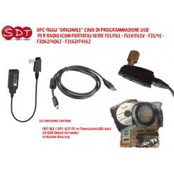 OPC-966U ORIGINALE CAVO DI PROGRAMMAZIONE USB PER RADIO ICOM PORTATILI