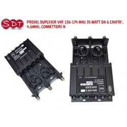 PROXEL DUPLEXER VHF 155-174 MHz DA 6 CAVITA', 4,6MHz, CONNETTORE N