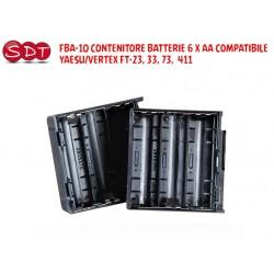 FBA-10 CONTENITORE BATTERIE 6 X AA COMPATIBILE YAESU/VERTEX FT-23, 33, 73,  411