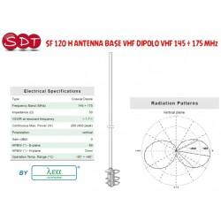 SF 120 H ANTENNA BASE VHF DIPOLO VHF 145 ÷ 175 MHz