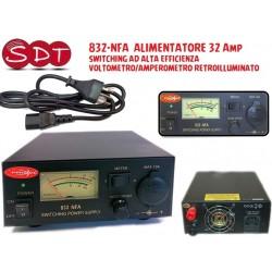 832-NFA  ALIMENTATORE 32 Amp SWITCHING AD ALTA EFFICIENZA VOLTOMETRO/AMPEROMETRO RETROILLUMINATO