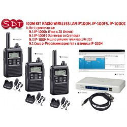 KIT ICOM IP100 - N.01 IP-1000C (20 Utenti) N.01 IP100FS N.03 IP-100H