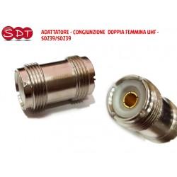 ADATTATORE - CONGIUNZIONE  DOPPIA FEMMINA UHF - SO239/SO239