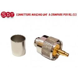 CONNETTORE MASCHIO UHF  A CRIMPARE PER RG-213