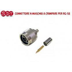 CONNETTORE N MASCHIO A CRIMPARE PER RG-58