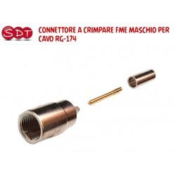 CONNETTORE FME MASCHIO A CRIMPARE PER CAVO RG-174