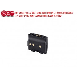 BP-256LI PACCO BATTERIE LI-ION 7,4 Volt 1400 Mah COMPATIBILE ICOM IC-E92D