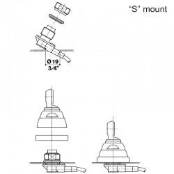 SIRIO SMA 108-550 S  ANTENNA VHF 108…300 MHz TARABILE