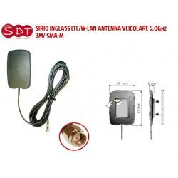 SIRIO INGLASS LTE/W-LAN ANTENNA VEICOLARE 5,0Ghz 3M/ SMA-M