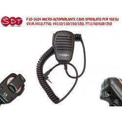 PJD-3604 MICRO-ALTOPARLANTE CAVO SPIRALATO PER YAESU VX1R,VX10,FT50, VX110/130/150/180, FT11/50/60E/250