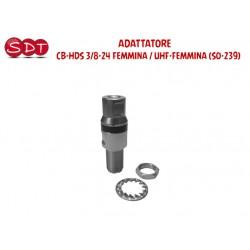ADATTATORE - CB-HDS 3/8-24 FEMMINA / UHF-FEMMINA (SO-239)