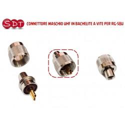 CONNETTORE MASCHIO UHF A VITE PER RG-58U