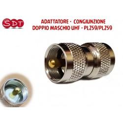 ADATTATORE - CONGIUNZIONE  DOPPIO MASCHIO UHF - PL259/PL259