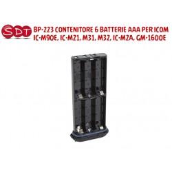 BP-223 CONTENITORE 6 BATTERIE AAA PER ICOM IC-M90E, IC-M21,M31, 32, IC-M2A, GM-1600E
