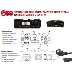 NISSEI NS-30SD ALIMENTATORE SWITCHING DIGITALE 30Amp. TENSIONE REGOLABILE 9-15 Volt cc