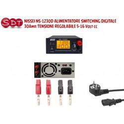 NISSEI NS-1230D ALIMENTATORE SWITCHING DIGITALE 30Amp. TENSIONE REGOLABILE 5-16 Volt cc
