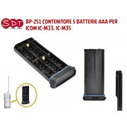 BP-251 CONTENITORE 5 BATTERIE AAA PER ICOM IC-M33, IC-M35