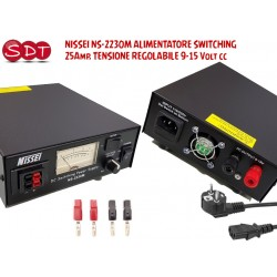 NISSEI NS-2230M ALIMENTATORE SWITCHING 25Amp. TENSIONE REGOLABILE 9-15 Volt cc