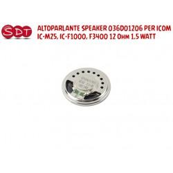 ALTOPARLANTE SPEAKER 036D01206 PER ICOM IC-M25, IC-F1000, F3400 12 Ohm 1.5 WATT